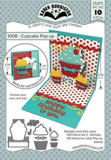 Happymade - Karen Burniston - Die - Cupcake Pop-up (1008)