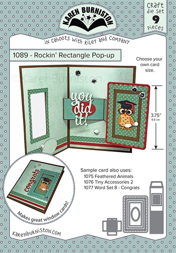 Happymade - Karen Burniston - Die - Rockin' Rectangle Pop-up (1089)