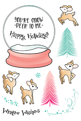 Happymade - LDRS Creative - Clear Stamp - Snow Deer To Me (3259)