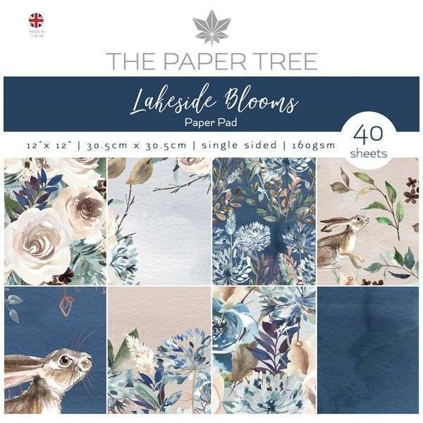 "Happymade - The Paper Tree - Paper Pad - 12x12"" - Lakeside Blooms (PTC1004)"