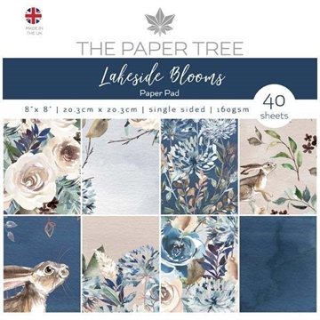 "Happymade - The Paper Tree - Paper Pad - 8x8"" - Lakeside Blooms (PTC1003)"