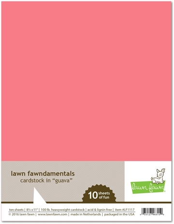 Happymade - Lawn Fawn - Cardstock - Guava (Pakn. m/10 ark)