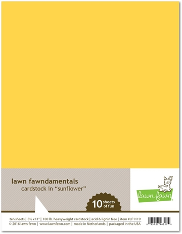 Happymade - Lawn Fawn - Cardstock - Sunflower (Pakn. m/10 ark)