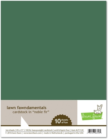 Happymade - Lawn Fawn - Cardstock - Noble Fir (Pakn. m/10 ark)