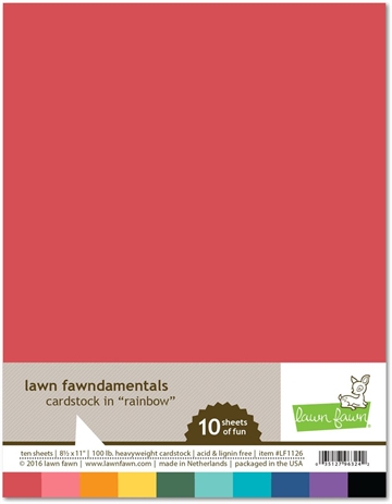 Happymade - Lawn Fawn - Cardstock - Rainbow (Pakn. m/10 ark)