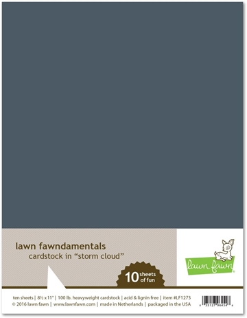 Happymade - Lawn Fawn - Cardstock - Storm Cloud (Pakn. m/10 ark)