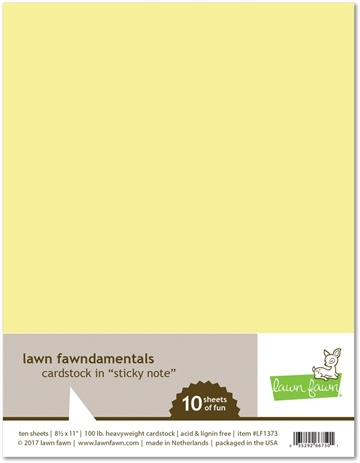 Happymade - Lawn Fawn - Cardstock - Sticky Note (Pakn. m/10 ark)