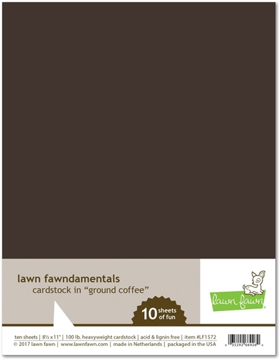Happymade - Lawn Fawn - Cardstock - Ground Coffee (Pakn. m/10 ark)