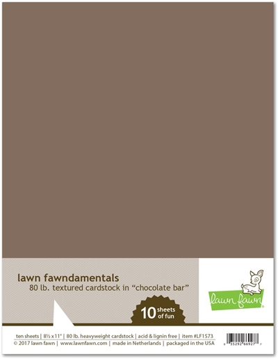 Happymade - Lawn Fawn - Cardstock, Textured - Chocolate Bar (Pakn. m/10 ark)
