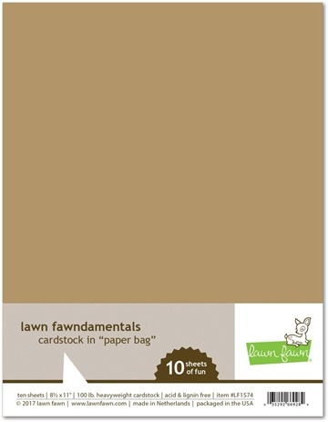 Happymade - Lawn Fawn - Cardstock - Paper Bag (Pakn. m/10 ark)