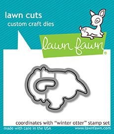 Lawn Fawn die set - Winter otter