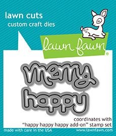Lawn Fawn die - Happy Happy Happy Add-on
