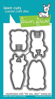 Lawn Fawn die set - For you, Deer