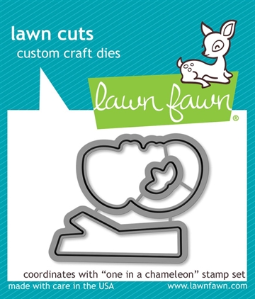 Happymade - Lawn Fawn die - One in a Chameleon