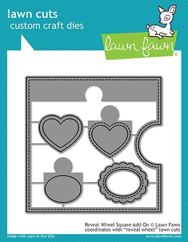 Happymade - Lawn Fawn die - Reveal Wheel Square Add-On