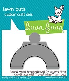Happymade - Lawn Fawn die - Reveal Wheel Semicircle Add-On