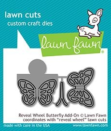 Happymade - Lawn Fawn die - Reveal Wheel Butterfly Add-On (LF1910)