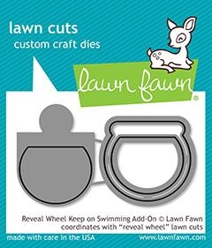 Happymade - Lawn Fawn die - Reveal Wheel Keep On Swimming Add-On (LF1957)