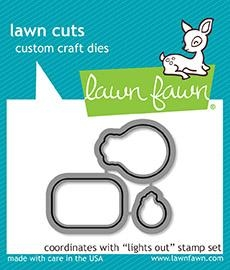 Happymade - Lawn Fawn die set - Lights Out