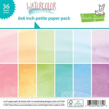 Happymade - Lawn Fawn - Paper pad - Watercolor Wishes - LF1355