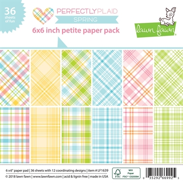 Happymade - Lawn Fawn - Paper pad - Perfectly Plaid - Spring - LF1639