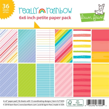 Happymade - Lawn Fawn - Paper pad - Really Rainbow - LF1655