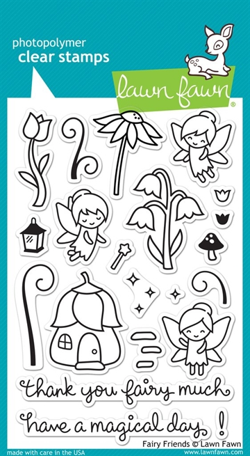 Lawn Fawn clear stamp set - Fairy friends