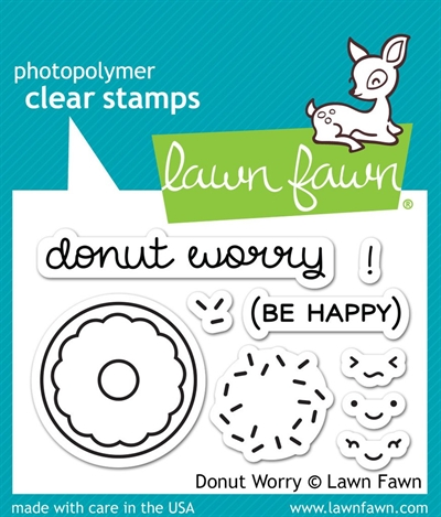 Lawn Fawn clear stamp set - Donut worry