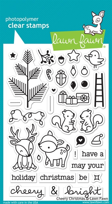 Happymade - Lawn Fawn clear stamp set - Cheery Christmas