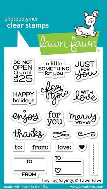 Lawn Fawn clear stamp set - Tiny tag sayings