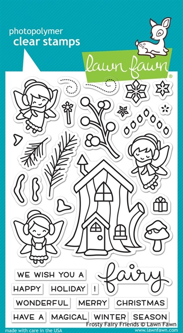 Lawn Fawn clear stamp set - Frosty fairy friends