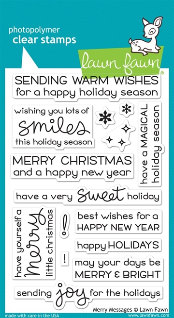 Lawn Fawn clear stamp set -  Merry Messages