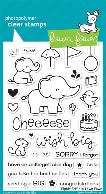 Lawn Fawn clear stamp set - Elphie Selfie