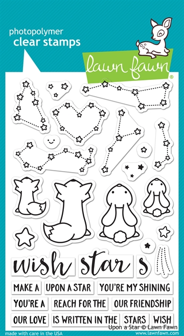 Lawn Fawn clear stamp set - Upon a star