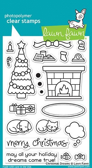 Lawn Fawn clear stamp set - Christmas Dreams