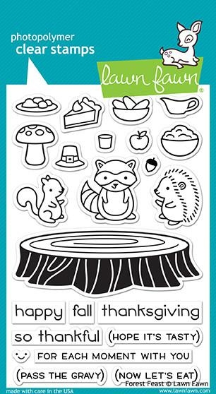 Lawn Fawn clear stamp set - Forest Feast