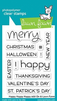 Lawn Fawn clear stamp set - Happy Happy Happy Add-on