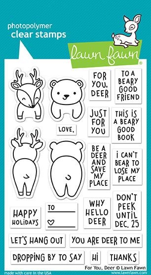 Lawn Fawn clear stamp set - For You, Deer