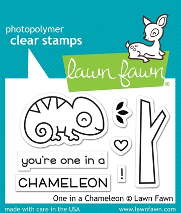 Happymade - Lawn Fawn clear stamp set - One in a Chameleon
