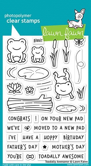 Happymade - Lawn Fawn clear stamp set - Toadally Awesome