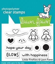 Happymade - Lawn Fawn clear stamp set - Little Fireflies