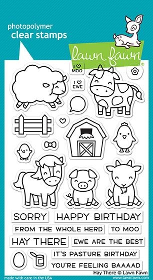 Happymade - Lawn Fawn clear stamp set - Hay There