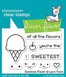 Happymade - Lawn Fawn clear stamp set - Sweetest Flavour