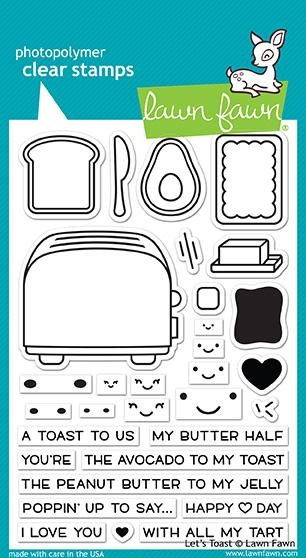 Happymade - Lawn Fawn clear stamp set - Let's Toast (LF1820)