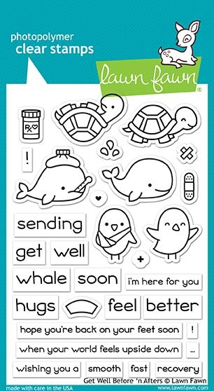 Happymade - Lawn Fawn clear stamp set - Get Well Before 'n Afters (LF1886)