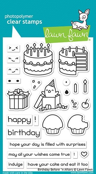 Happymade - Lawn Fawn clear stamp set - Birthday Before 'n Afters (LF1958)