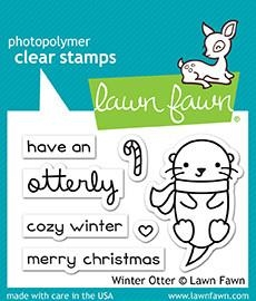 Lawn Fawn clear stamp set - Winter otter