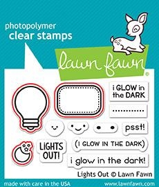 Happymade - Lawn Fawn clear stamp set - Lights Out