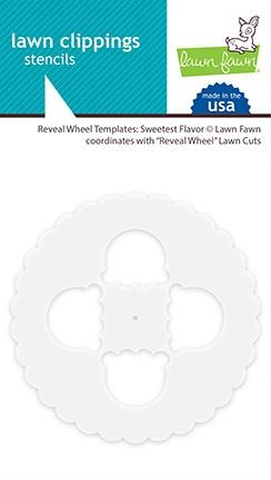 Happymade - Lawn Fawn - Templates - Reveal Wheel - Sweetest Flavour shapes (LF1995)