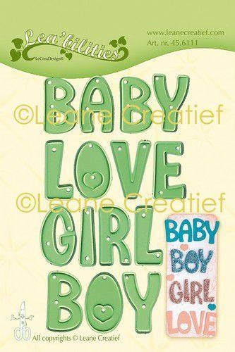 Happymade - Leane Creatief - Die - Baby Boy Girl Love (45.6111)